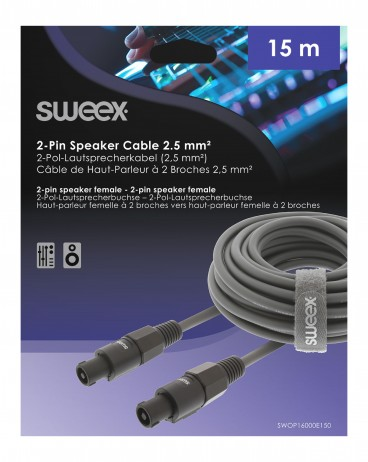 Sweex Speakon Speaker Kabel 2-Pins Female - Female 15.0 m