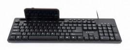 Gembird Multimedia Toetsenbord met Telefoonhouder