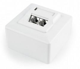 CAT6 UTP LAN-opbouwdoos, 2-poorts