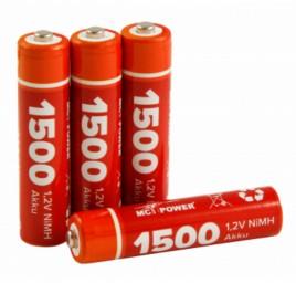 Micro batterij McPower 1.2V, 1500, NiMH, type AAA, pak à 4