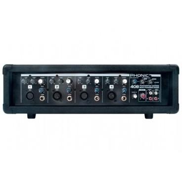 Phonic 4 kanaals Mixer met Versterker