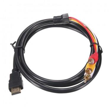 HDMI Mannelijk naar 3 RCA Audio Video AV, 1.5m