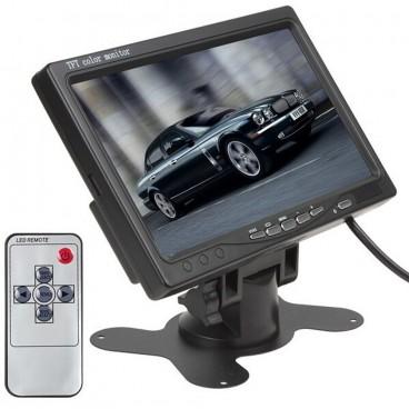 """7 """" Breedbeeld LCD Scherm met 2 Video Ingangen"""