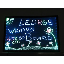 LED Schrijfbord 30 x 40 cm, Enkelzijdig