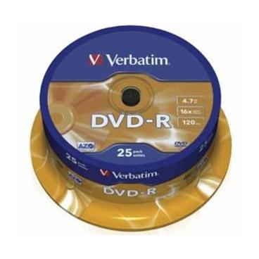 Verbatim DVD-R (Minus) 25 stuks op spindel