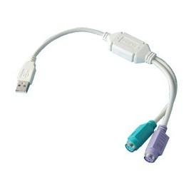 USB-PS2 Keyboard en Muis Adaptor