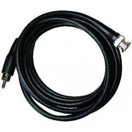 BNC Tulp kabel 1,0m RG 59, 75 Ohm