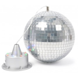 BeamZ 20cm Spiegelbol met LED's + Motor met LED's
