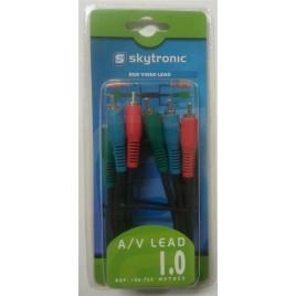 Skytronic 3xTulp-3xTulp A/V kabel, 1.0m