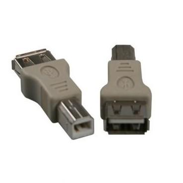 USB Verloop Adaptor mannelijk B naar vrouwelijk A