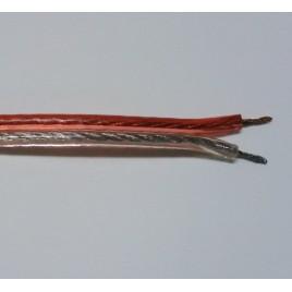 Transparante Luidsprekerkabel 1.5mm2, per meter