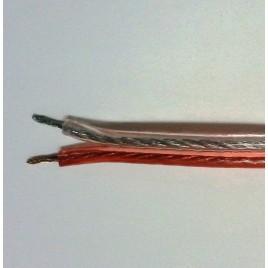 Transparante Luidsprekerkabel 2.5mm2, per meter