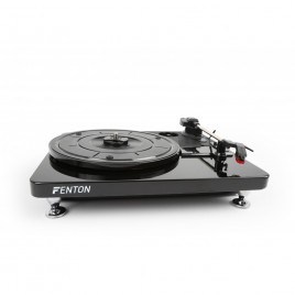 Fenton RP120 Platenspeler USB hoogglans Zwart/Chroom