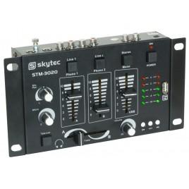 STM-3020 4-Kanaals mengpaneel USB/MP3 - Zwart