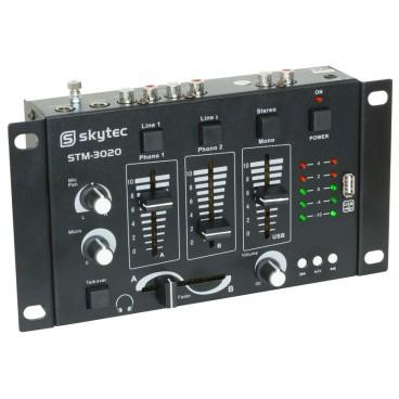 Skytec 4-Kanaals mengpaneel USB/MP3