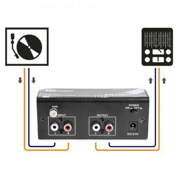Power Dynamics PDX010 Pick-Up voorverterker, Phono Pre-amplifier
