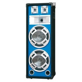 "Disco Speakerbox 2x 12"" met LED 1000W blauw"