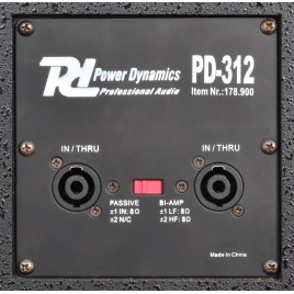 "POWER DYNAMICS PD-312 PA-Speaker 12"" 400W"