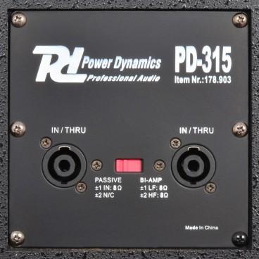 """POWER DYNAMICS PD-315 PA-Speaker 15"""" 500W"""