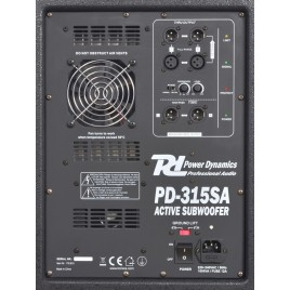 Power Dynamics PD-315SA Actieve Subwoofer 15""