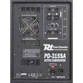 "Power Dynamics PD-315SA Actieve Subwoofer 15"""