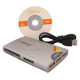 USB Kaartlezer met 3x USB2.0 poorten