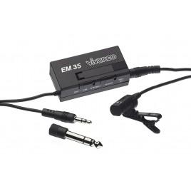Vivanco EM-116 dasspeld / kraag  condensator microfoon