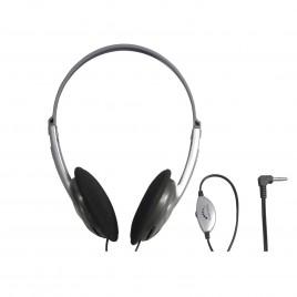 Lichtgewicht Stereo Hoofdtelefoon met Volumeregeling, 1.2 meter