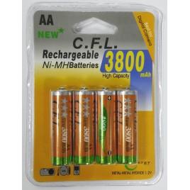 Oplaadbare Ni-Mh AA / penlight batterijen