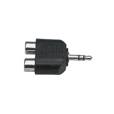 3.5mm stereo stekker - 2x tulp kontra stekker