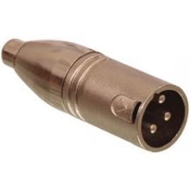 3p XLR stekker - tulp kontra stekker