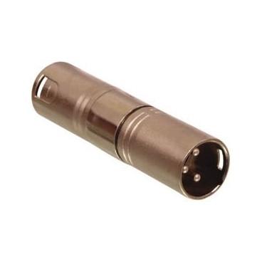 3p XLR stekker - 3p XLR stekker koppelstuk