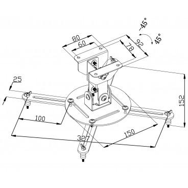 Plafondbeugel voor projector 10 kg/22 lbs