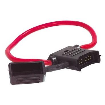 In-Line Zekering Houder 5mm, voor Platte Zekeringen