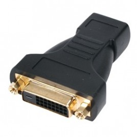 HDMI female – DVI-D female adapter verguld