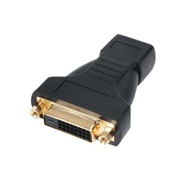 HDMI female – DVI-D female adapter verguld