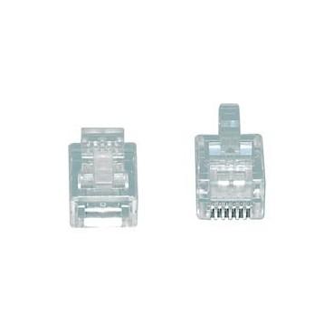 MODULAIRE PLUGGEN, TEL-0006 Modulair plug RJ12 (6P6C) voor platte kabel