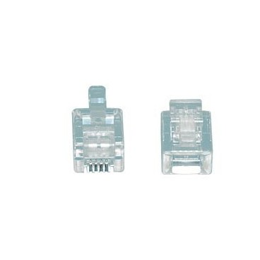 MODULAIRE PLUGGEN RJ11,TEL-0004 Modulair plug RJ11 (4P6C) voor platte kabel