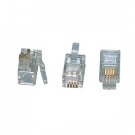 MODULAIRE PLUGGEN TEL-0002 Modulair plug RJ10 (4P4C) voor platte kabel