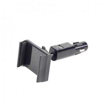 Autohouder voor smartphones met 1x USB-lader