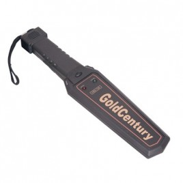 Black Portable Handheld Metaaldetector With 3.5mm Headphone Socket