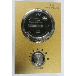 Mini mobiele speaker met SD / MMC / USB / FM / CLOCK (SU-61)
