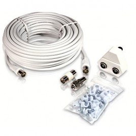 Philips 15m Coax TV Antennekabel SET