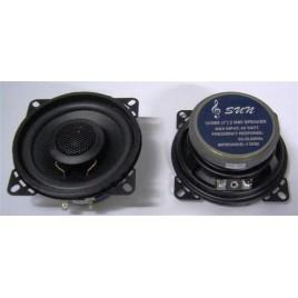 SUN 4 10cm 2 weg inbouw speakers 60 watt