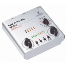 Behringer Silver Tube Ultragain MIC200 Boxed Microfoon PRE-AMP Voorversterker
