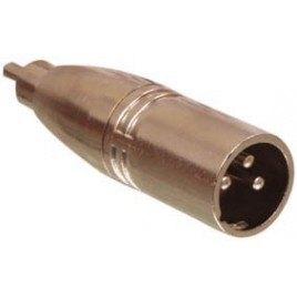 3p XLR stekker - tulp stekker