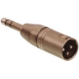 3p XLR stekker - 6.3mm stereo stekker