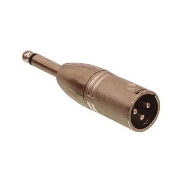 Veloop Stekker 3p XLR male naar 6.3mm mono plug