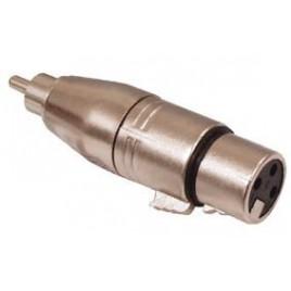 3p XLR kontra stekker - tulp stekker