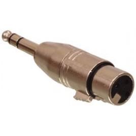3p XLR kontra stekker - 6.3mm stereo stekker